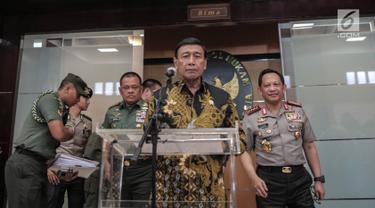 Wiranto Pimpin Rakor dengan Panglima Tni, Kapolri, BIN, Menhan, Bea dan Cukai