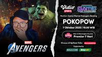 Nonton Game Bareng Pokopow Marvel's Avengers di Vidio. Setiap Rabu, pukul 19.00 WIB. (Sumber: Vidio)