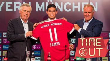 James Rodriguez resmi diperkenalkan, Bayern Munchen, gelandang timnas Kolombia tersebut rencananya bakal mewarisi nomor milik Douglas Costa.