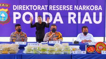 Ratusan Kilogram Sabu Malaysia Hilir Mudik Numpang Lewat di Riau