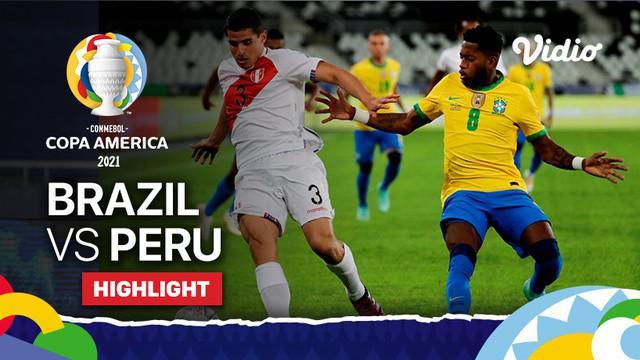 Berita video highlights Grup A Copa America 2021 antara Brasil melawan Peru yang berakhir dengan skor telak 4-0, Jumat (18/6/2021) pagi hari WIB.