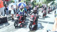 Mengusung tema 'GSX150 Bandit Touring Teman Satu Tujuan', touring dimulai dari kota Manado hingga Kotamobagu. (SIS)