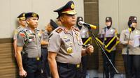 Kapolda Riau Irjen Widodo Eko Prihastopo yang diganti Kapolri Tito Karnavian. (Liputan6.com/M Syukur)