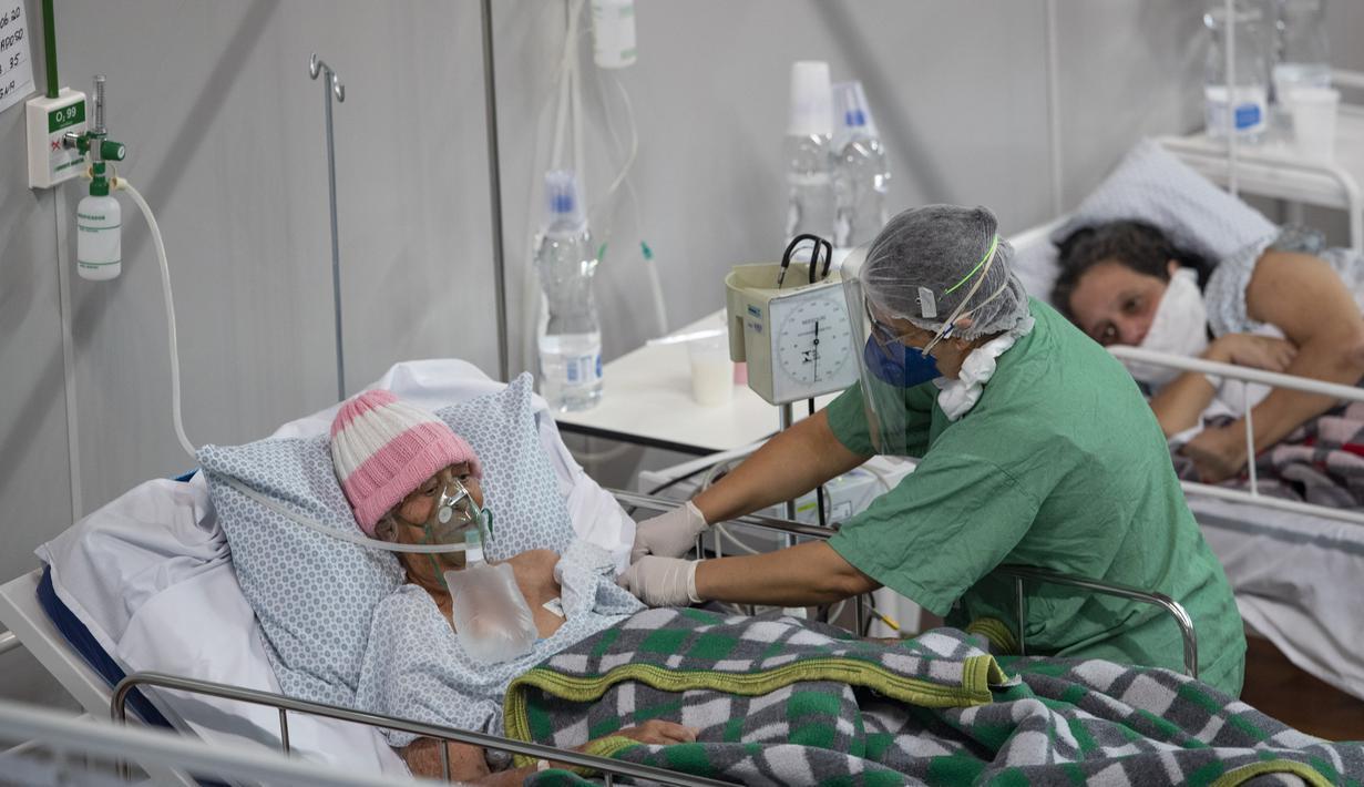 Foto Menengok Pasien Covid 19 Di Rumah Sakit Lapangan Brasil Global Liputan6 Com