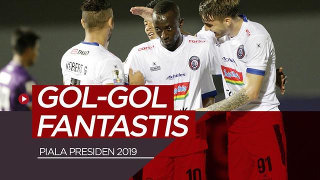 Berita video 3 gol fantastis yang tercipta sepanjang penyelenggaraan Piala Presiden 2019.