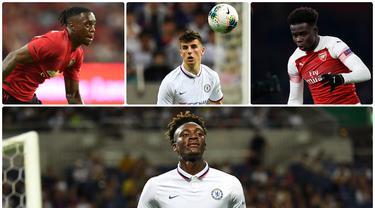 Setiap musimnya kompetisi Premier League selalu terdapat pemain muda yang patut diamati perkembangannya. Berikut enam pemain muda yang dapat bersinar pada kompetisi Premier League pada musim 2019-2020. (Kolase foto dari AFP)