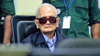Nuon Chea, wakil pemimpin pasukan Khmer Merah, meninggal pada usia 93 tahun. (AFP)
