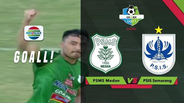 Shohei Matsunaga mencetak dua gol saat PSMS Medan menghadapi PSIS Semarang dalam lanjutan Gojek Liga 1 2018 bersama Bukalaopak.