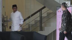 Menteri Agama Lukman Hakim Saifuddin usai menjalani pemeriksaan di Gedung KPK, Jakarta, Kamis(23/5/2019). Lukman Hakim Saifuddin diperiksa sebagai saksi untuk tersangka Anggota DPR RI nonkatif Muhammad Romahurmuziy terkait suap jual beli jabatan di Kemenag Jawa Timur. (merdeka.com/Dwi Narwoko)