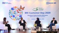 Wakil Direktur Utama BRI Catur Budi Harto dalam Talkshow BRI Customer Day yang juga disiarkan secara langsung melalui Webinar dan Youtube Official Bank BRI pada hari ini, Jumat 4 September 2020.