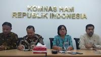 Komnas HAM menyampaikan sejumlah temuan dalam pelaksanaan Pemilu 2019. (Merdeka.com)