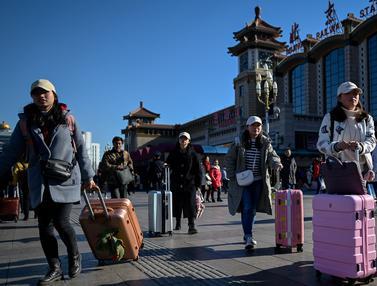 Warga China Mudik Jelang Imlek