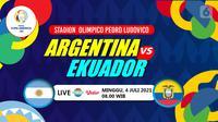 ARGENTINA VS EKUADOR (liputan6.com/Abdillah)