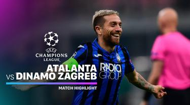 Berita Video Highlights Liga Champions, Atalanta Vs Dinamo Zagreb 2-0