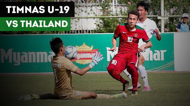 Berita video highlights Piala AFF U-18 2017 antara Timnas Indonesia U-19 melawan Thailand yang berakhir dengan adu penalti 2-3 di Stadion Thuwunna, Yangon, Myanmar, Jumat (15/9).