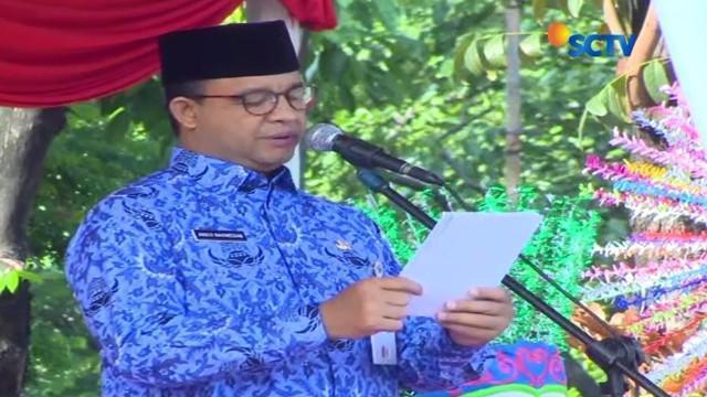 Momen Sumpah Pemuda, Anies Baswedan berharap agar bahasa Indonesia dapat diaplikasikan dengan baik.