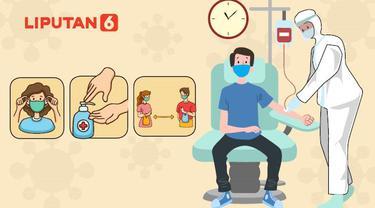 Banner Infografis Patuh 3M Saat Donor Darah. (Liputan6.com/Abdillah)