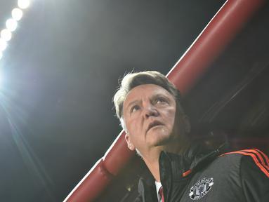 Louis van Gaal yang pernah melatih Ajax Amsterdam, Bayern Munchen, Barcelona, dan sekarang melatih Manchester United mempunyai rasio 57/95 atau 60 persen kemenangan. (AFP/Kirill Kudryavtsev)