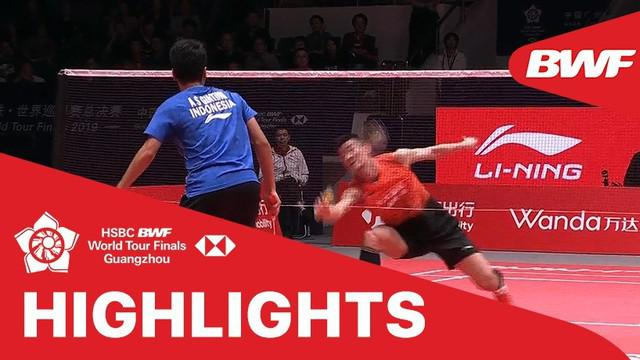 Berita video match highlights semifinal BWF World Tour Finals 2019, Anthony Ginting vs Chen Long, Sabtu (14/12/2019).