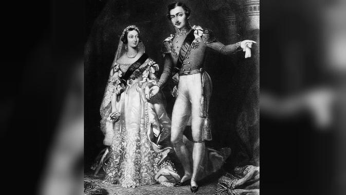 Ratu Victoria dan Pangeran Albert seusai menikah di St. James Palace, London, pada 10 Februari 1840. (Public Domain)
