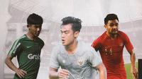 Firza Andika, Pratama Arhan dan Asnawi Mangkualam. (Bola.com/Dody Iryawan)