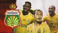 Renan Silva, Hansamu Yama dan Anderson Salles. (Bola.com/Dody Iryawan)