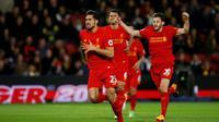 Emre Can merayakan gol ke gawang Watford (AP)