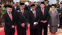 Dewan Pengawas KPK di Istana Negara, Jumat (20/12/2019). (foto: Biro Pers Setpres)