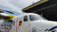 Pesawat N219 diterbangkan perdana oleh seorang pilot perempuan ternama dari Bandung. (dok. Basarnas Jawa Barat)