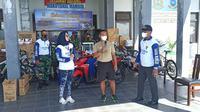 Pengundian hadiah bagi peserta Fun Bike di Lanal Mamuju (Liputan6.com/Abdul Rajab Umar)