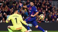 Penyerang Barcelona, Luis Suarez. (AFP/Josep Lago)