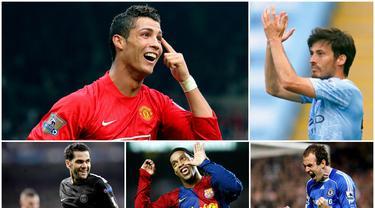 Berikut ini sembilan pembajakan transfer pemain paling sensasional di jagat sepak bola Eropa. Tiga diantaranya, Cristiano Ronaldo, Ronaldinho dan yang terbaru adalah David Silva. (Foto-foto AP dan AFP)