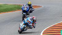 Pembalap Pertamina Mandalika SAG Team, Bo Bendsneyder pada balapan Moto2 Jerman. (Pembalap Pertamina Mandalika SAG Team)