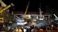 Situasi evakuasi di Provinsi Pampanga, Filipina pasca-dilanda gempa bermagnitudo 6,3 pada Senin, 21 April 2019 (AFP Photo)
