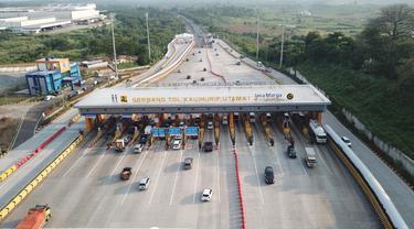 Arus lalu lintas Gerbang Tol (GT) Kalihurip Utama. (Dok Jasa Marga)