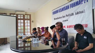 Diskusi fi Formappi. (Liputan6.com/Nanda Perdana Putra)
