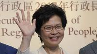 Carrie Lam, kepala eksekutif Hong Kong terpilih (Kin Cheung/AP)