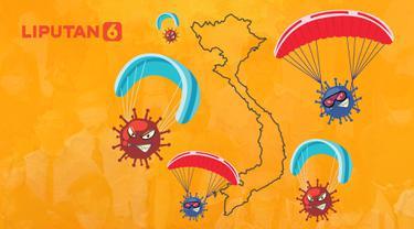 Banner Infografis Waspada Mutasi Covid-19 Kombinasi Varian Inggris-India. (Liputan6.com/Abdillah)