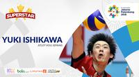 Superstar Asian Games, Yuki Ishikawa (Bola.com/Adreanus Titus)
