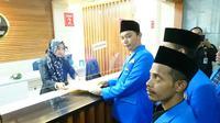 Persatuan Mahasiswa Islam Indonesia (PMII) saat mengajukan judicial review ke MK. (Liputan6.com/Putu Merta Surya Putra)