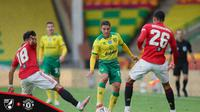 Norwich City tumbang 1-2 dari Manchester United dalam perempat final Piala FA. (Dok. Twitter/Manchester United)
