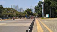 Suasana Kompleks Olahraga Gelora Bung Karno, Jakarta, pada Minggu (21/7/2019). (Bola.com/Muhammad Adiyaksa)