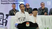 Jokowi-Ma'ruf mendapat nomor urut 1 untuk Pilpres 2019. Pada sambutannya, Jokowi ingin Pilpres 2019 ini sebagai ajang unjuk gagasan, program, dan prestasi.
