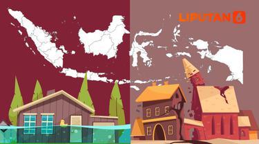 Ilustrasi bencana alam di Indonesia (Liputan6.com / Abdillah)