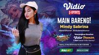 Vidio eSports Main Bareng Mindy Sabrina. (credit: Vidio)
