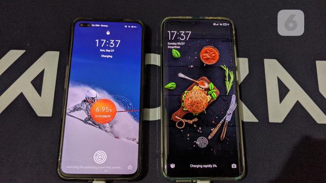 Xiaomi Mi 10 vs Realme X50 Pro. (Liputan6.com/ Yuslianson)