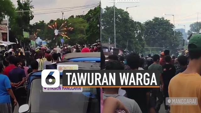 Beredar video tawuran oleh sejumlah warga di sekitaran Stasiun Manggarai.