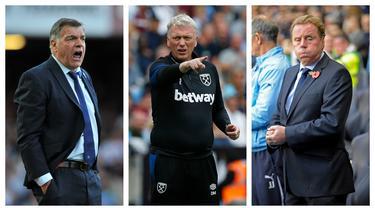 David Moyes sukses membawa West Ham tampil di Liga Europa musim ini setelah musim lalu finish di posisi ke-6 Premier League. Kejeniusannya meracik The Hammers seakan meneruskan tongkat estafet pelatih-pelatih yang telah berjasa sebelumnya. Siapa sajakah? (Foto: Kolase AFP)