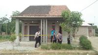 Satu keluarga di Kampung Gegeneng, Desa Sukadalem, Kecamatan Waringin Kurung, Kabupaten Serang, Banten, menjadi korban pembunuhan. (Yandhi Deslatama/ Liputan6.com)