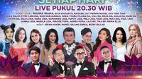 Semarak Indosiar 2021 ditayangkan dengan beragam tema live dari Studio Emtek City, Jakarta setiap malam mulai pukul 20.30 WIB